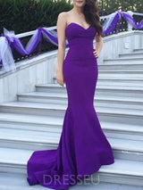 Floor-Length Sweep/Brush Trumpet/Mermaid Sleeveless Bridesmaid Dress