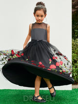 A-Line Lace Ankle-Length Flower Girl Dress