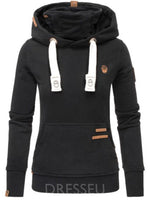Pocket Long Sleeve Mid-Length Hoodie