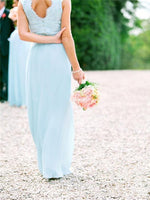 Sleeveless A-Line Floor-Length Scoop Bridesmaid Dress