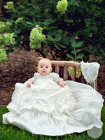 Long Christening Gown with Bonnet