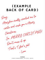 HAVE LINO WRITE A CHRISTMAS CARD