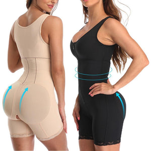 Zipper Slimming Butt Lifter Bodysuit