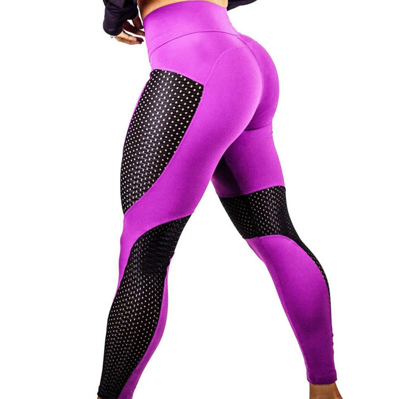 7dcd6cdcef3f3 High Elastic Mesh Fitness Leggings