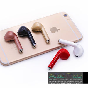I7 Smartphone Wireless Earphone Bluetooth Headset iPhone/Android