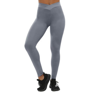 Fashion Push Up Leggings Women Workout Leggings Slim Leggings Polyester V-Waist Jeggings Women Pencil Pants