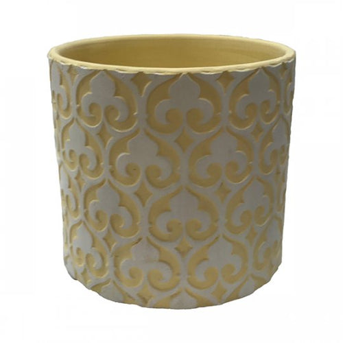 Clay Pot White over Yellow