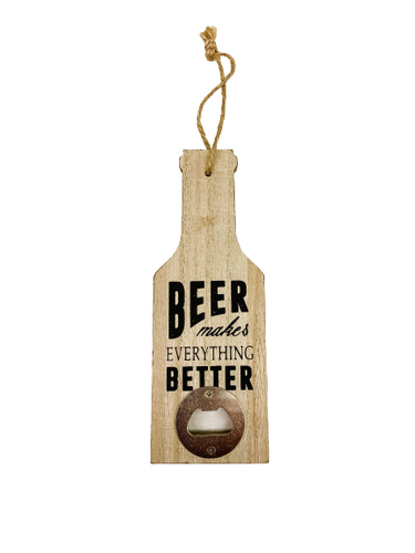 Wooden Bottle Opener for Dad