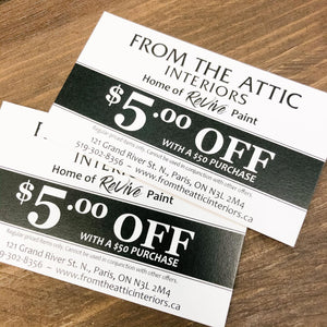 From the Attic Interiors Gift Card