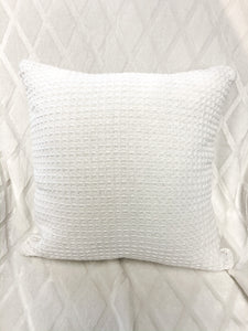 Cotton Waffle Pillows Cream