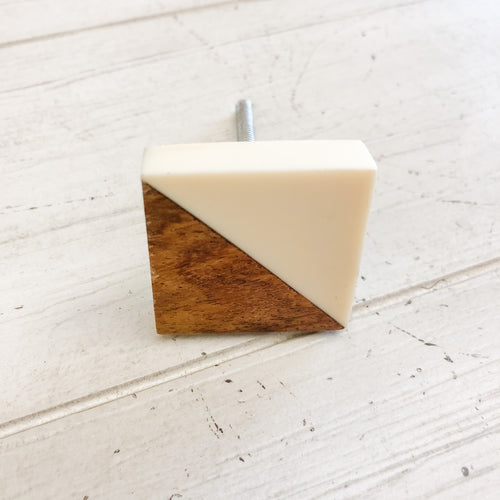 Wood & Resin square Knob