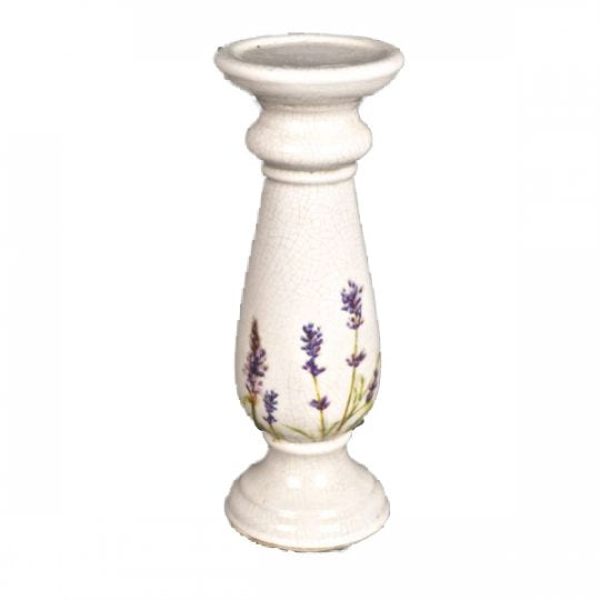 Ceramic Candle Sick with Lavender