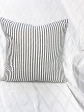 Load image into Gallery viewer, Pillow Ticking Black Stripe on Natural Pillows