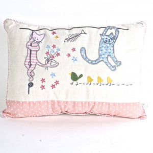 Cats Accent Cotton Pillow