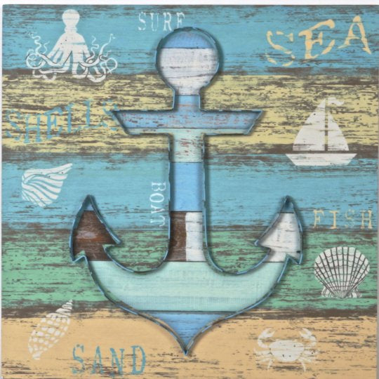 Wood Wall Art Anchor