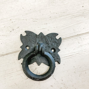 Cast Iron Drawer Pull--Black
