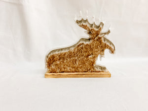 Faux Fur Decorative Moose