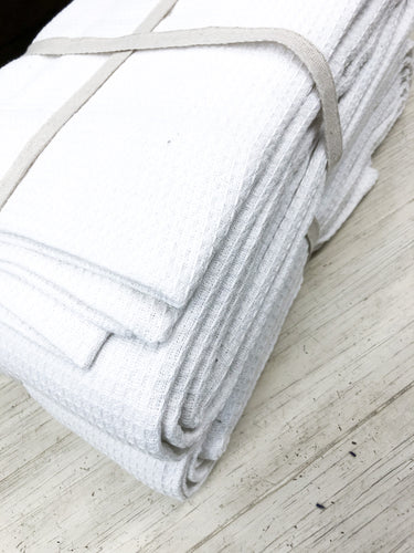 White Waffle Throw—Queen Size