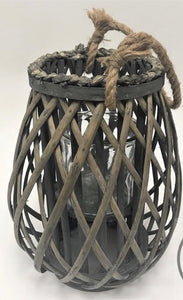 Large Willow Lantern-Grey