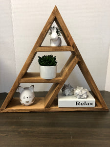 Large 4 Compartment Triangle shelf