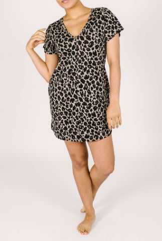 Sunday Shorty Dress in Lexi Leopard