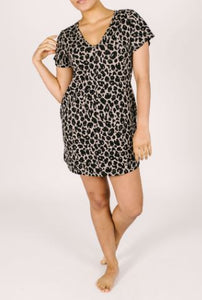 Smash + Tess Sunday Shorty Dress in Lexi Leopard