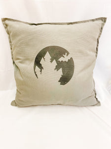 Haunted House Silhouette - Throw Pillow