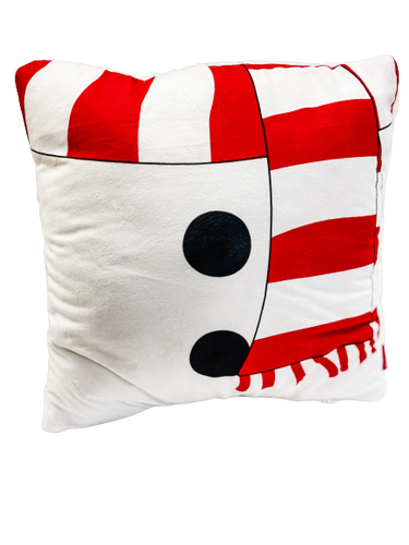 Snowman Design Throw Pillow