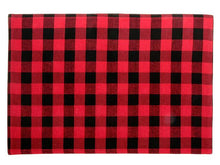 Load image into Gallery viewer, Cotton Buffalo Plaid Fabric Placemats