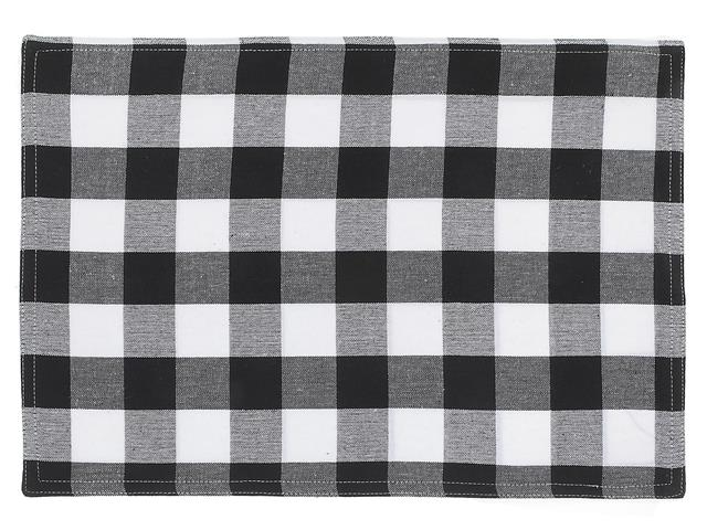 Cotton Buffalo Plaid Fabric Placemats
