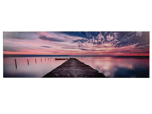 Pier at Sunset Canvas Wall Art