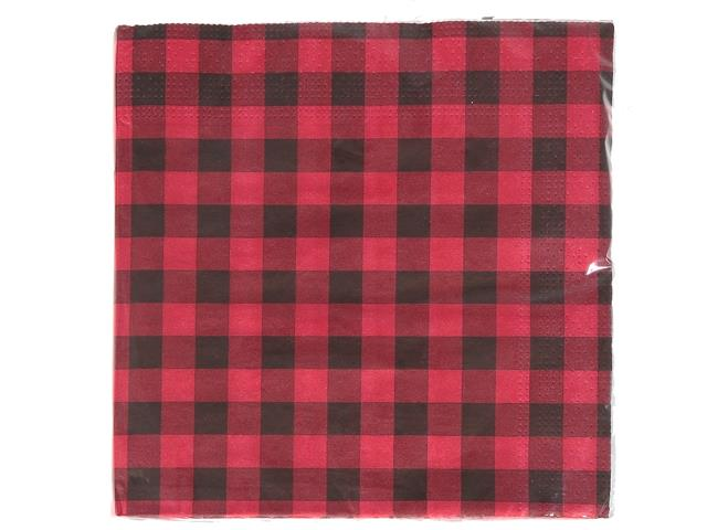 Red Buffalo Plaid Paper Napkins - Pack of 20