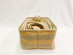 Striped Storage Baskets - Set of Three
