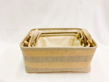 Load image into Gallery viewer, Striped Storage Baskets - Set of Three