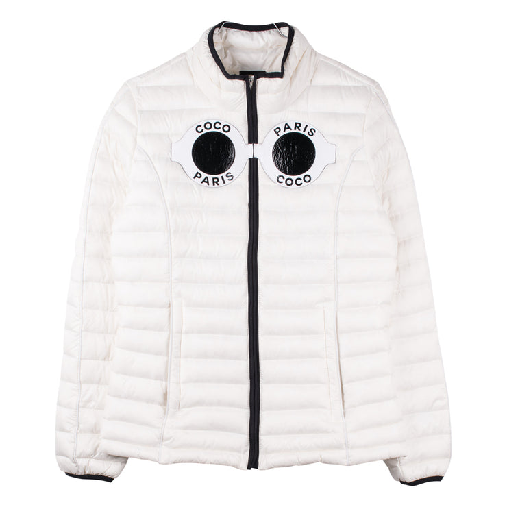 "Down Jacket ""Coco"" - white (front)"