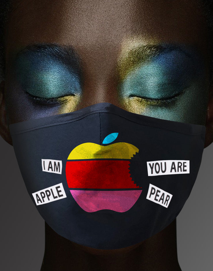 "Face Mask ""Apple"" - black"