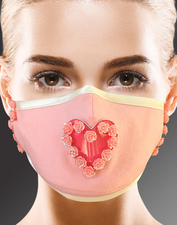 "Face Mask ""Bride"" - light pink"