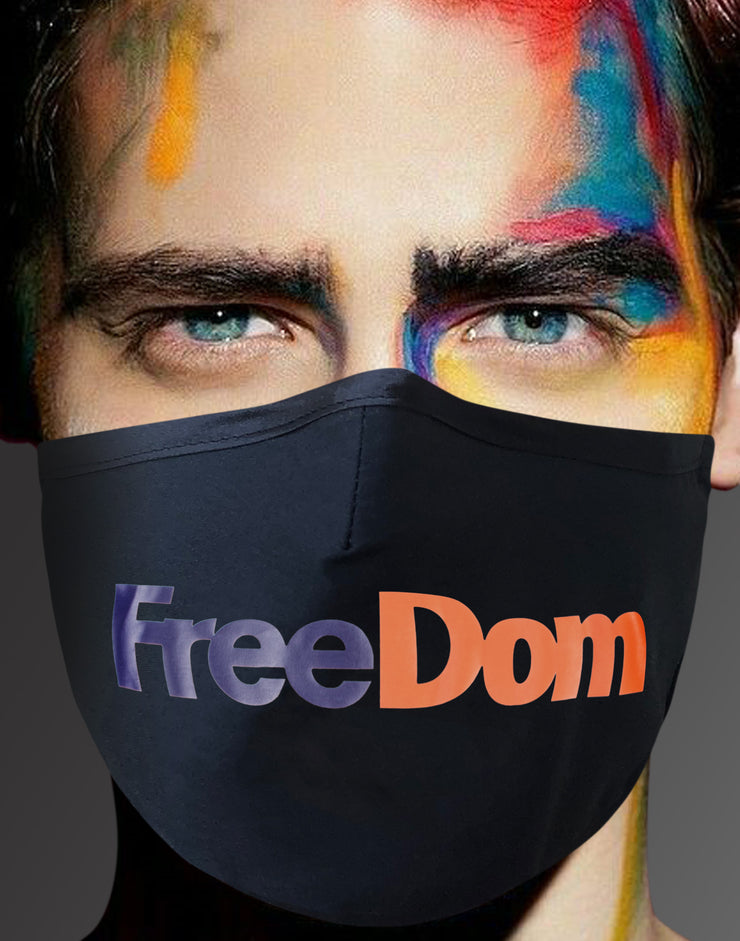 "Face Mask ""Freedom"" - black"