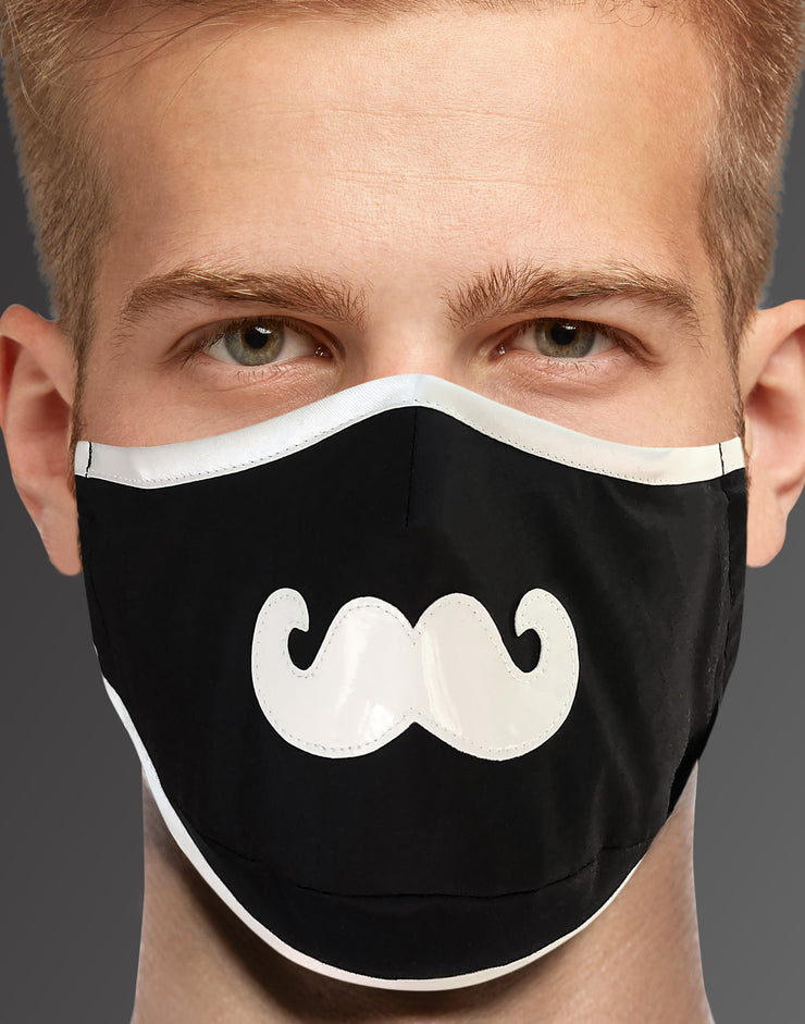 "Face Mask ""Groom"" - black"