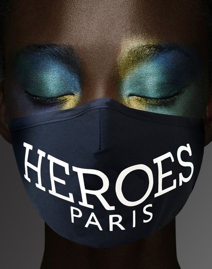 "Face Mask ""Heroes"" - black"