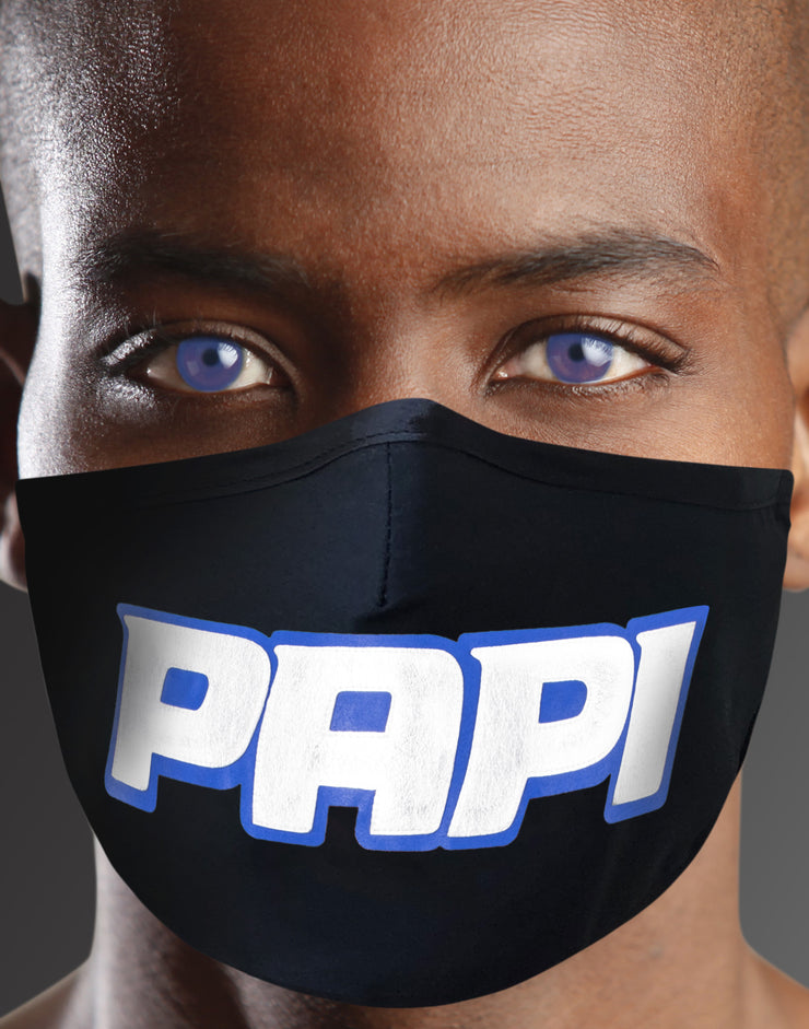 "Face Mask ""Papi"" - black"