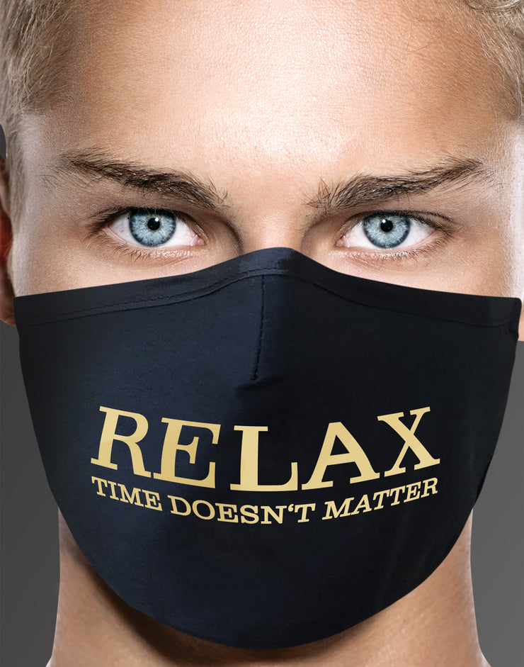 "Face Mask ""Relax"" - black"