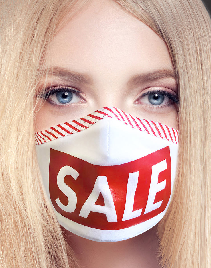 "Face Mask ""Sale"" - white"
