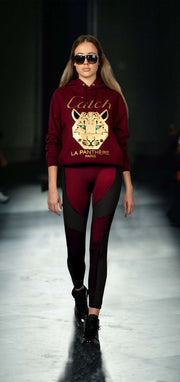 "Sweatshirt ""Catch"" - burgundy"