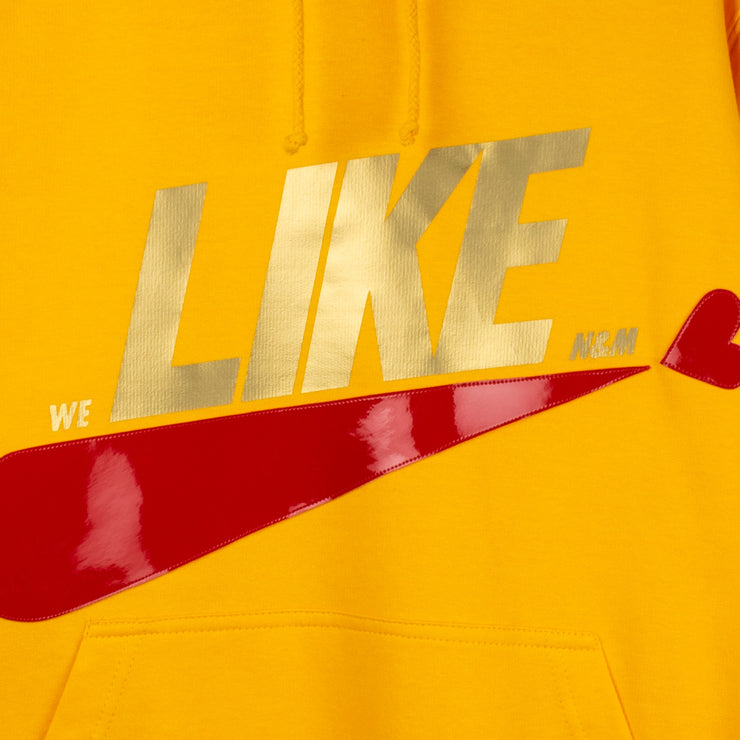 "Hoodie ""Like"" - yellow (detail application)"