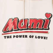 "Hoodie ""Mami"" - creme (detail application)"