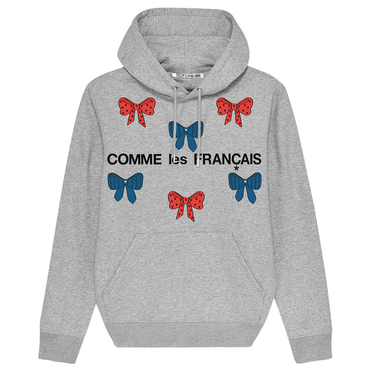 "Hoodie ""TZ Comme"" - heather grey"