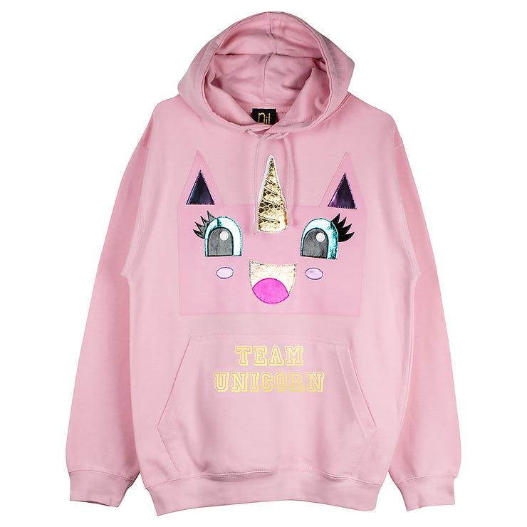 "Hoodie ""Team UC"" - light pink"