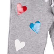 "Jogging Pants ""Hearts"" - grey melange (detail application)"