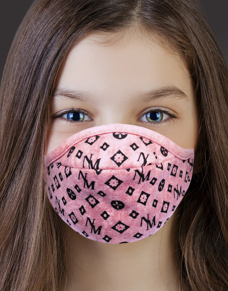 "Kids Face Mask ""Candy K"" - light pink"